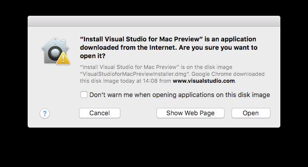 Confirmação de segurança do Mac
