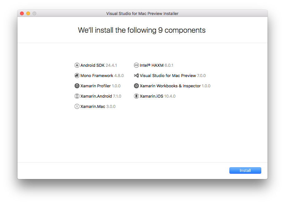 Review de componentes a serem instalados