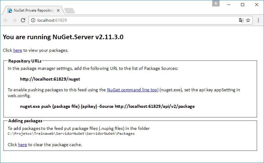 Criando repositórios para o NuGet - Blog da TreinaWeb