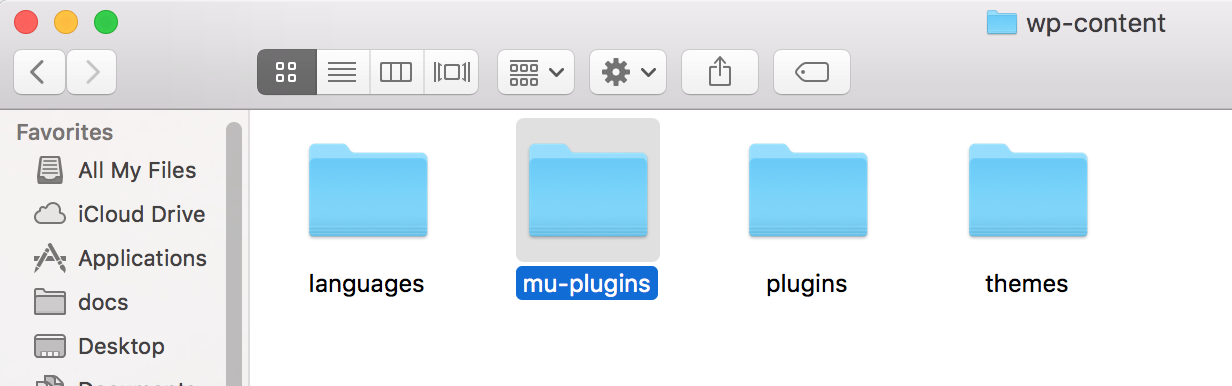 Imagem pasta mu-plugins WordPress