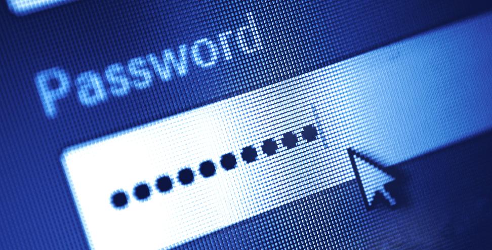 Imagem com um campo password preenchido