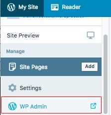 Acessar wp-admin classico no wordpress.com